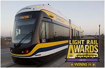 BROOKVILLE Light Rail Awards Liberty Modern Streetcar